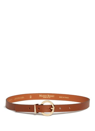 Main View - Click To Enlarge - MAISON BOINET - Round buckle leather belt