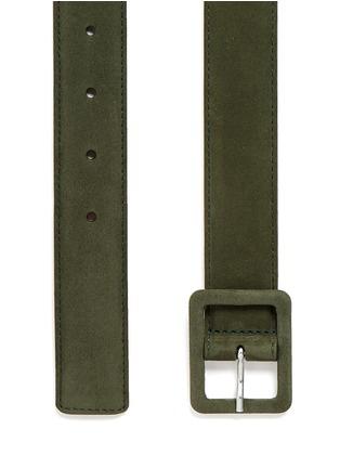 Detail View - Click To Enlarge - Maison Boinet - Nubuck leather belt