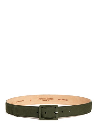 Main View - Click To Enlarge - Maison Boinet - Nubuck leather belt