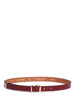 Main View - Click To Enlarge - MAISON BOINET - Buckle loop leather belt