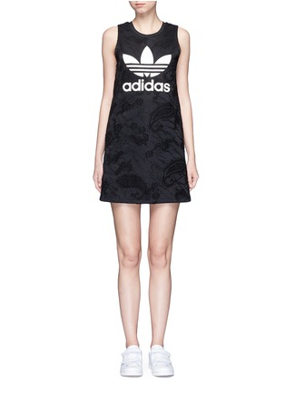 Main View - Click To Enlarge - Adidas - Trefoil print embroidered paisley tank dress