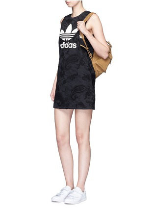 Figure View - Click To Enlarge - Adidas - Trefoil print embroidered paisley tank dress