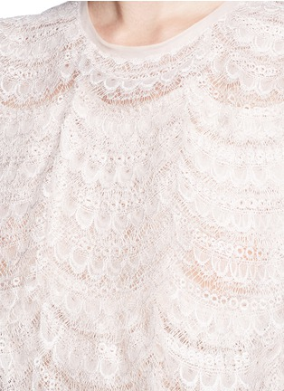Detail View - Click To Enlarge - Givenchy - Layered lace belted sleeveless dress