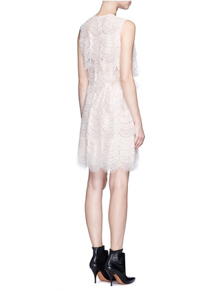 Back View - Click To Enlarge - Givenchy - Layered lace belted sleeveless dress