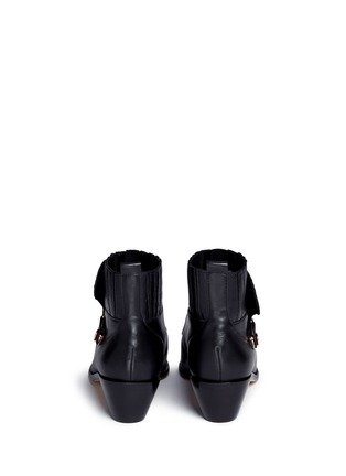 Back View - Click To Enlarge - Sophia Webster - 'Karina' butterfly stud embellished leather boots