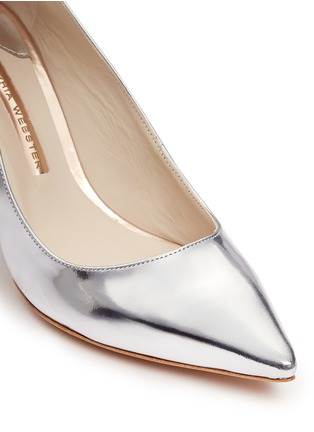Detail View - Click To Enlarge - Sophia Webster - 'Coco Flamingo' mirror leather pumps