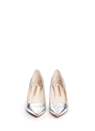 Front View - Click To Enlarge - Sophia Webster - 'Coco Flamingo' mirror leather pumps