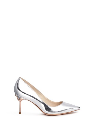 Main View - Click To Enlarge - Sophia Webster - 'Coco Flamingo' mirror leather pumps