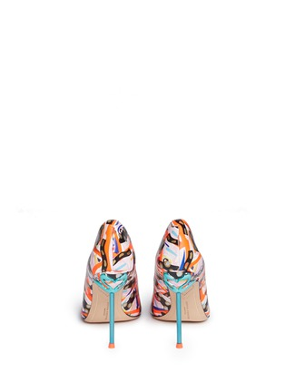 Back View - Click To Enlarge - Sophia Webster - 'Coco Flamingo' graphic print leather pumps