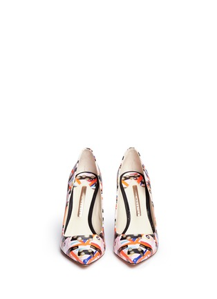 Front View - Click To Enlarge - Sophia Webster - 'Coco Flamingo' graphic print leather pumps