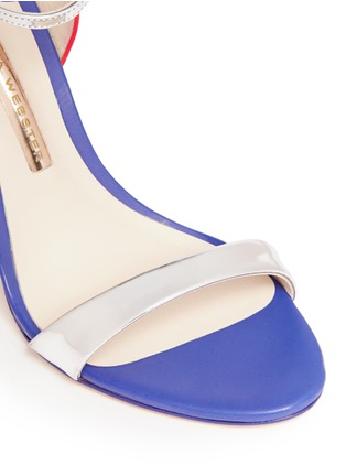 Detail View - Click To Enlarge - Sophia Webster - 'Chiara' butterfly appliqué metallic leather sandals