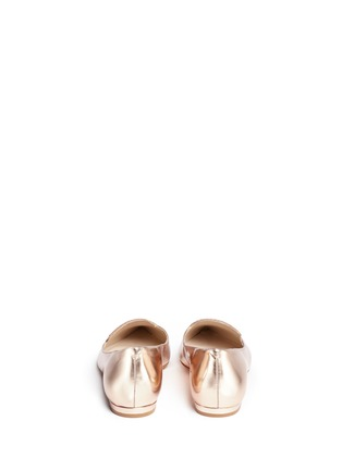 Back View - Click To Enlarge - Sophia Webster - 'Bibi' embroidered butterfly wing mirror leather flats