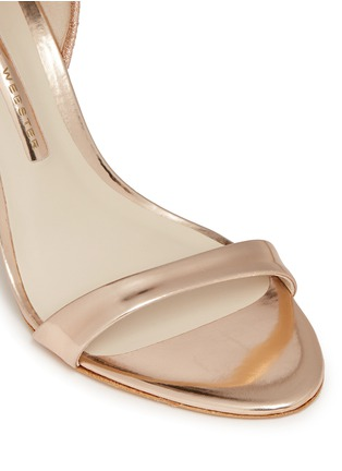 Detail View - Click To Enlarge - Sophia Webster - 'Chiara' butterfly embroidery metallic leather sandals