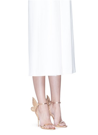 Figure View - Click To Enlarge - Sophia Webster - 'Chiara' butterfly embroidery metallic leather sandals
