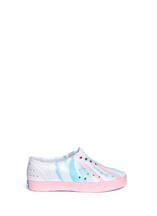 Main View - Click To Enlarge - Native - 'Miller' marble effect kids slip-ons