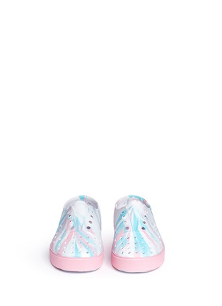 Figure View - Click To Enlarge - Native - 'Miller' marble effect kids slip-ons