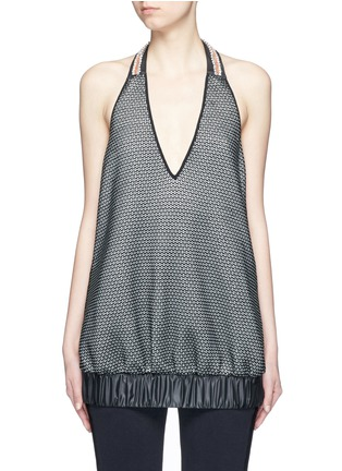 Main View - Click To Enlarge - No Ka'Oi - 'Lune' crystal bead embellished knit halterneck top