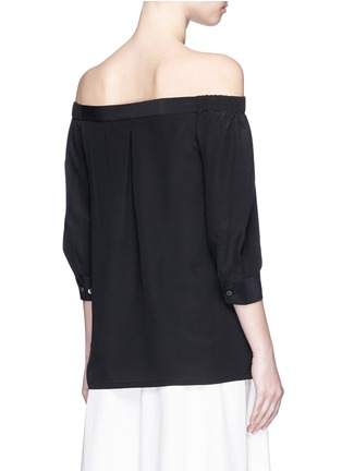 Back View - Click To Enlarge - Theory - 'Joscla' silk off-shoulder top