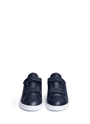 Front View - Click To Enlarge - Adidas - x HYKE 'AOH-005' textile strap leather sneakers