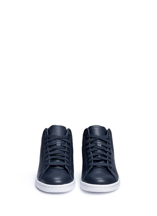 Front View - Click To Enlarge - ADIDAS - x HYKE 'AOH-001 HI' leather sneakers
