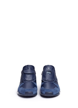 Front View - Click To Enlarge - Adidas - x HYKE 'AOH-006' leather sneakers