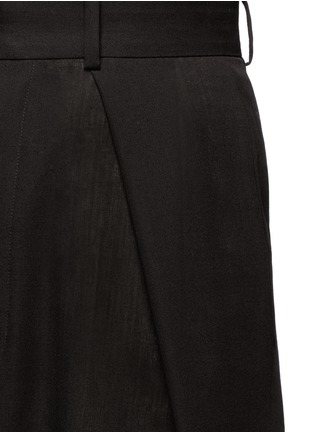 Detail View - Click To Enlarge - Ms MIN - Pleated front sheer wide leg pants