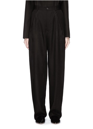 Main View - Click To Enlarge - Ms MIN - Pleated front sheer wide leg pants