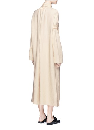 Back View - Click To Enlarge - Ms MIN - Piped panel linen blend twill dress