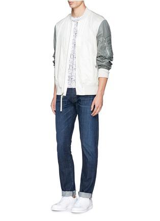 Figure View - Click To Enlarge - 3x1 - 'M5' selvedge denim slim jeans