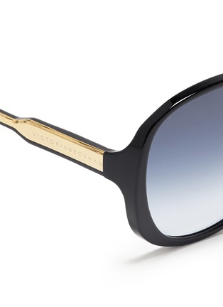 Detail View - Click To Enlarge - Victoria Beckham - 'Large Fine Oval' acetate oversize sunglasses