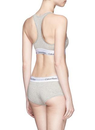 Back View - Click To Enlarge - Calvin Klein Collection - 'Modern Cotton' logo waistband boyshort