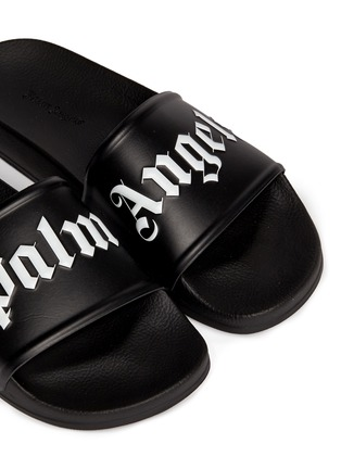 Detail View - Click To Enlarge - Palm Angels - Logo embossed pool slide sandals