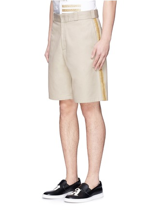 Front View - Click To Enlarge - Palm Angels - Lurex side stripe shorts