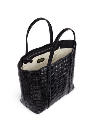 Detail View - Click To Enlarge - CELESTINA BAGS - 'Coronel' Caiman crocodile leather shopper tote