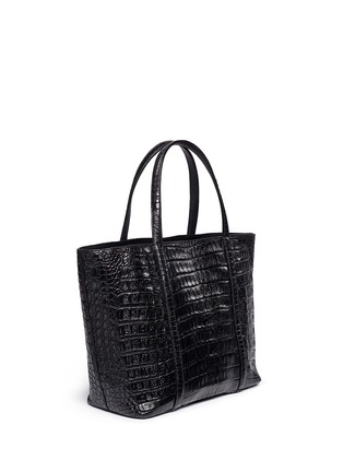 Figure View - Click To Enlarge - CELESTINA BAGS - 'Coronel' Caiman crocodile leather shopper tote