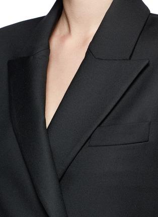 Detail View - Click To Enlarge - Ellery - 'Tenacity' detachable cone sleeve asymmetric blazer