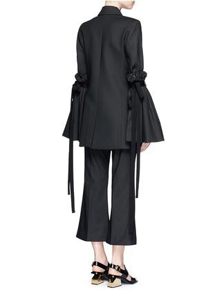 Back View - Click To Enlarge - Ellery - 'Tenacity' detachable cone sleeve asymmetric blazer