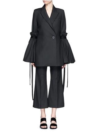 Main View - Click To Enlarge - Ellery - 'Tenacity' detachable cone sleeve asymmetric blazer