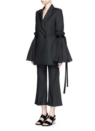 Figure View - Click To Enlarge - Ellery - 'Tenacity' detachable cone sleeve asymmetric blazer