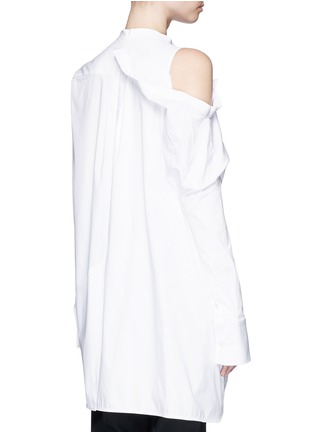 Back View - Click To Enlarge - Ellery - 'Castelli' asymmetric cold shoulder deconstructed shirt