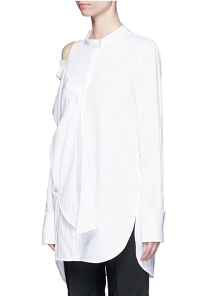Front View - Click To Enlarge - Ellery - 'Castelli' asymmetric cold shoulder deconstructed shirt