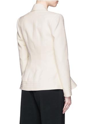Back View - Click To Enlarge - Roksanda - 'Sienna' peplum double crepe jacket