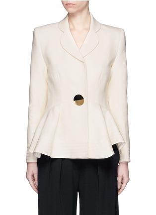 Main View - Click To Enlarge - Roksanda - 'Sienna' peplum double crepe jacket