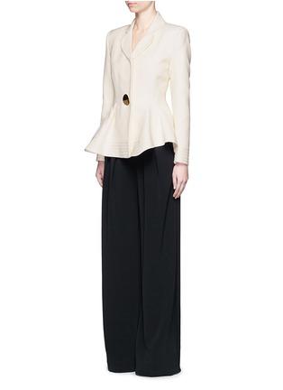 Figure View - Click To Enlarge - Roksanda - 'Sienna' peplum double crepe jacket