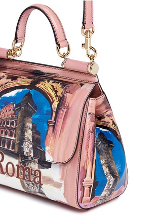 Detail View - Click To Enlarge - Dolce & Gabbana - 'Miss Sicily' medium Roma print Dauphine leather satchel