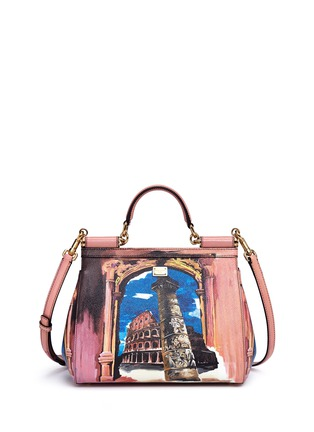 Back View - Click To Enlarge - Dolce & Gabbana - 'Miss Sicily' medium Roma print Dauphine leather satchel