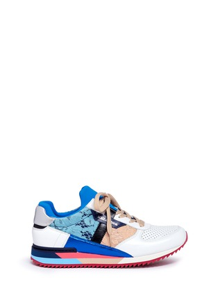 Main View - Click To Enlarge - Dolce & Gabbana - 'Nigeria' lace leather combo sneakers
