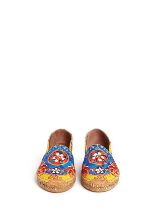 Front View - Click To Enlarge - Dolce & Gabbana - Sicilian Carretto print floral brocade espadrilles