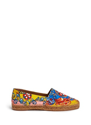 Main View - Click To Enlarge - Dolce & Gabbana - Sicilian Carretto print floral brocade espadrilles