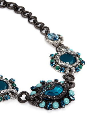 Detail View - Click To Enlarge - Lanvin - 'Lucrezia' glass stone pewter collar necklace